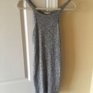 Dresses & Skirts - Super cute Grey knit mini dress